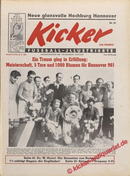 Kicker Nr. 21, 24.5.1954 bis 30.5.1954