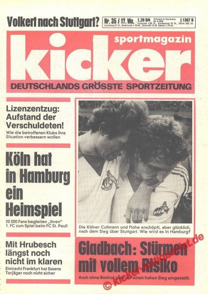 Kicker Sportmagazin Nr. 35, 27.4.1978 bis 3.5.1978