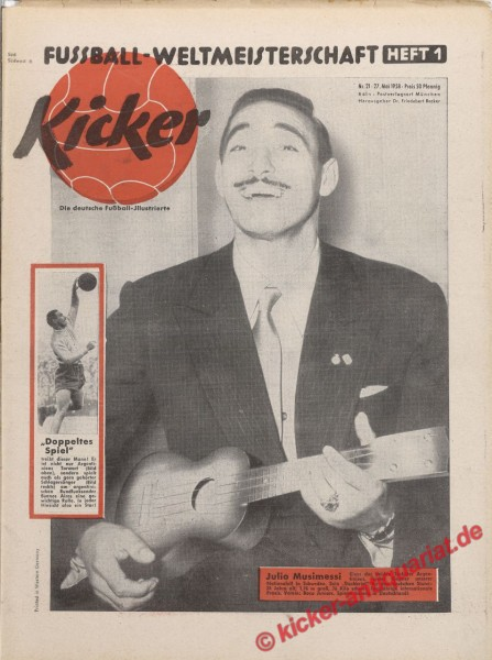 Kicker Nr. 21, 27.5.1958 bis 2.6.1958