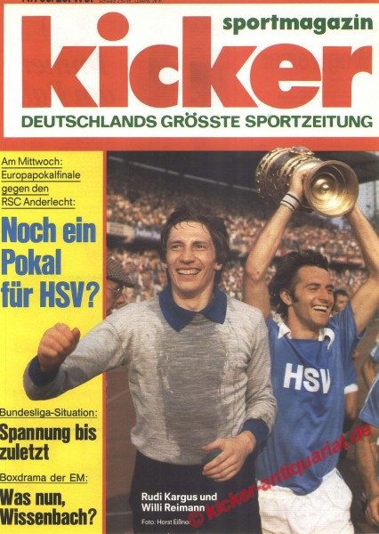 Kicker Sportmagazin Nr. 38, 9.5.1977 bis 15.5.1977