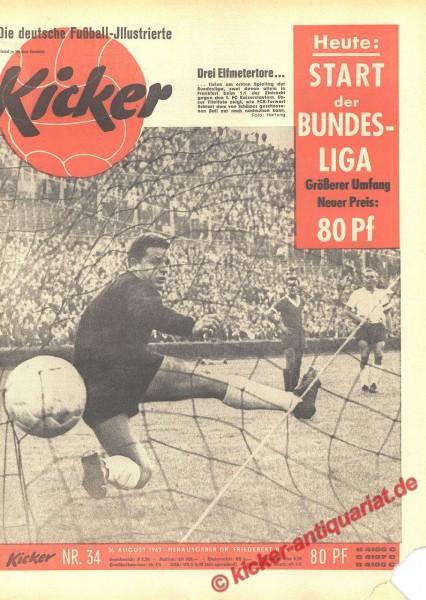 Kicker Nr. 34, 26.8.1963 bis 1.9.1963