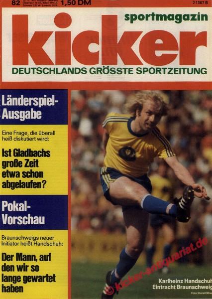 Kicker Sportmagazin Nr. 82, 13.10.1975 bis 19.10.1975