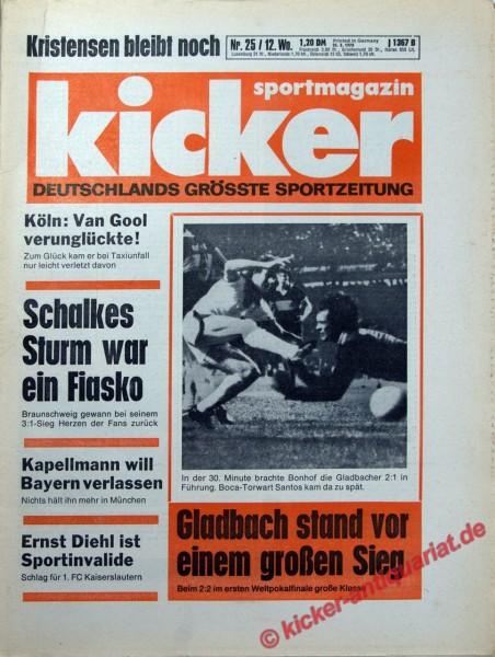 Kicker Sportmagazin Nr. 25, 23.3.1978 bis 29.3.1978