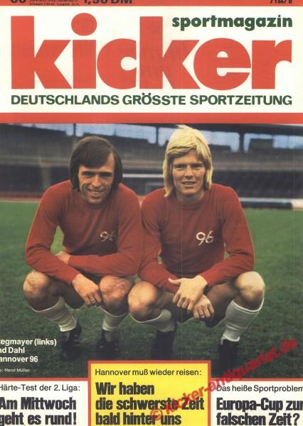 Kicker Sportmagazin Nr. 66, 18.8.1975 bis 24.8.1975
