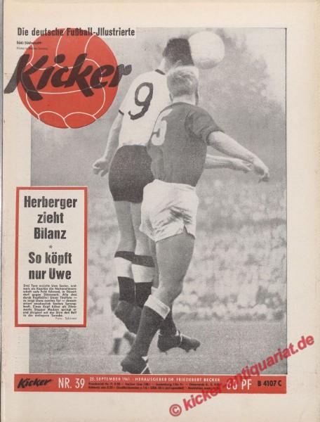 Kicker Nr. 39, 25.9.1961 bis 1.10.1961