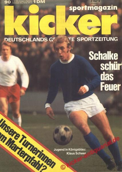 Kicker Sportmagazin Nr. 90, 9.11.1970 bis 15.11.1970