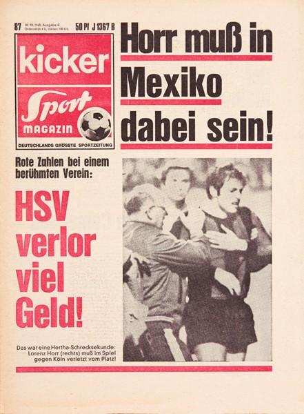 Kicker Sportmagazin Nr. 87, 30.10.1969 bis 5.11.1969