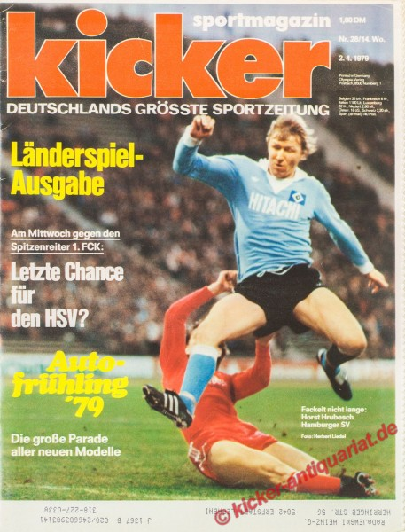 Kicker Sportmagazin Nr. 38, 7.5.1979 bis 13.5.1979