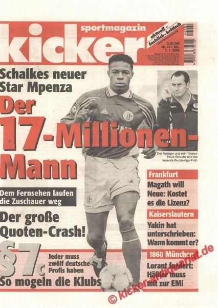 Kicker Sportmagazin Nr. 3, 7.1.2000 bis 13.1.2000