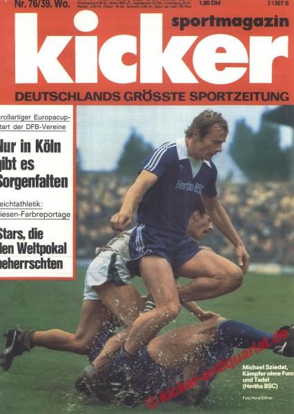 Kicker Sportmagazin Nr. 76, 19.9.1977 bis 25.9.1977