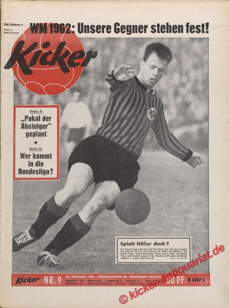 Kicker Nr. 9, 29.2.1960 bis 6.3.1960