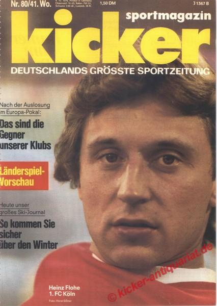 Kicker Sportmagazin Nr. 80, 4.10.1976 bis 10.10.1976