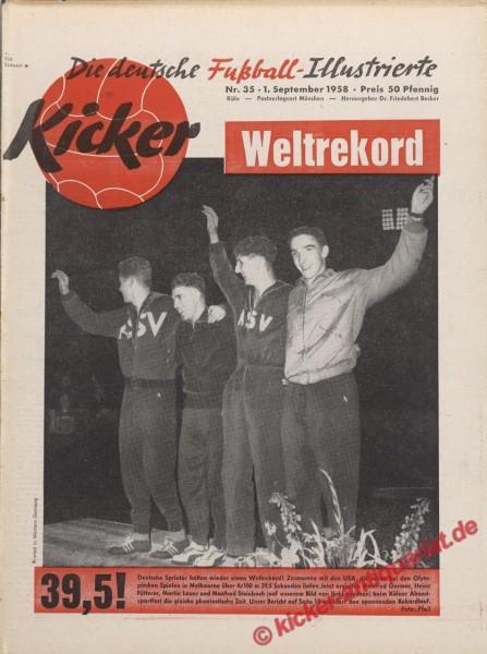 Kicker Nr. 35, 1.9.1958 bis 7.9.1958