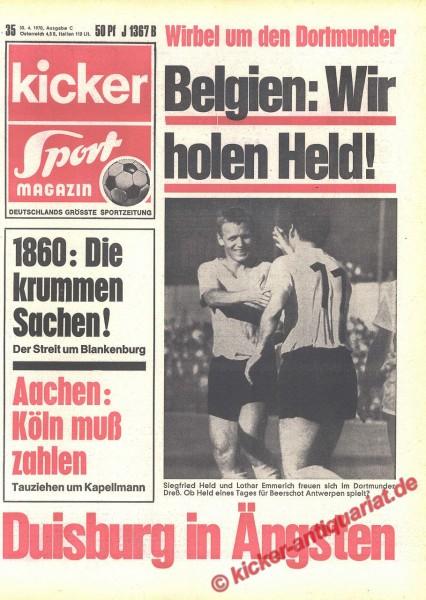 Kicker Sportmagazin Nr. 35, 30.4.1970 bis 6.5.1970