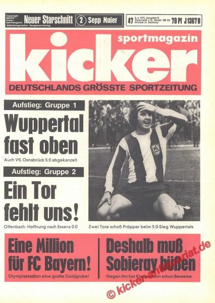 Kicker Sportmagazin Nr. 47, 8.6.1972 bis 14.6.1972