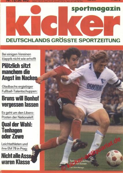 Kicker Sportmagazin Nr. 72, 4.9.1978 bis 10.9.1978