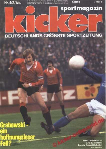 Kicker Sportmagazin Nr. 4, 9.1.1978 bis 15.1.1978