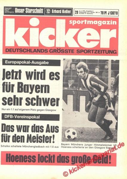 Kicker Sportmagazin Nr. 29, 6.4.1972 bis 12.4.1972