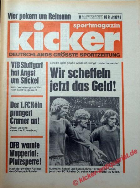 Kicker Sportmagazin Nr. 11, 31.1.1974 bis 6.2.1974