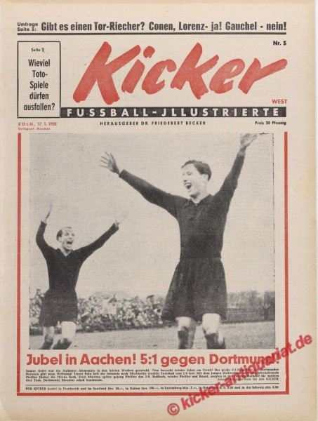 Kicker Nr. 3, 17.1.1955 bis 23.1.1955