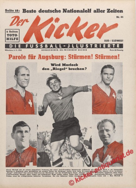 Kicker Nr. 44, 3.11.1952 bis 9.11.1952