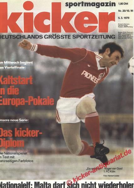 Kicker Sportmagazin Nr. 20, 5.3.1979 bis 11.3.1979