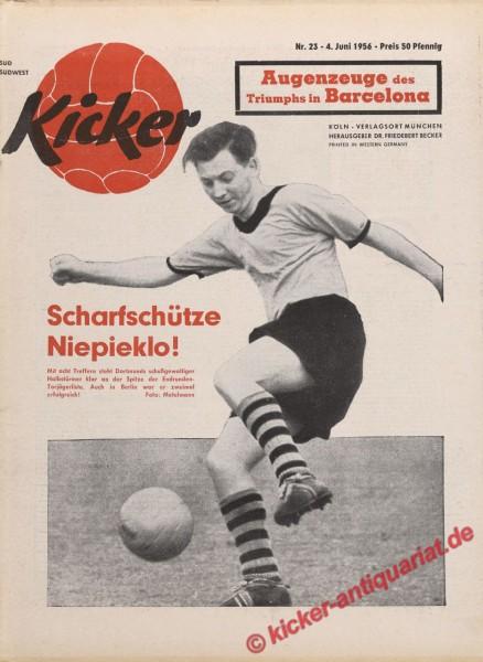 Kicker Nr. 23, 4.6.1956 bis 10.6.1956