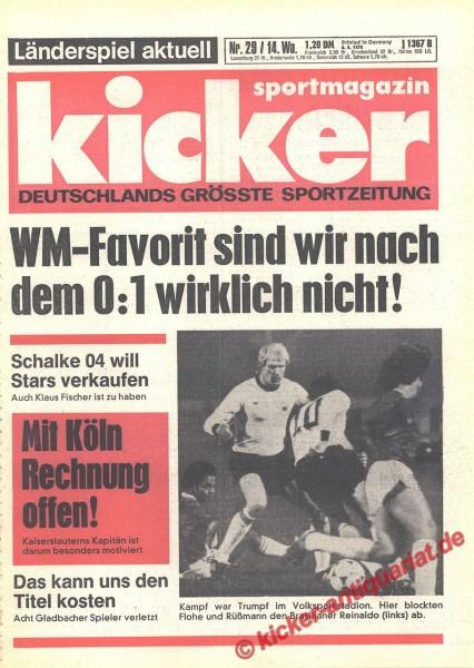 Kicker Sportmagazin Nr. 29, 6.4.1978 bis 12.4.1978