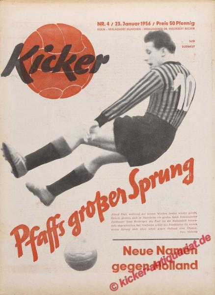 Kicker Nr. 4, 23.1.1956 bis 29.1.1956