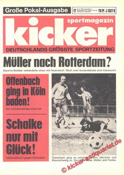 Kicker Sportmagazin Nr. 17, 24.2.1972 bis 1.3.1972