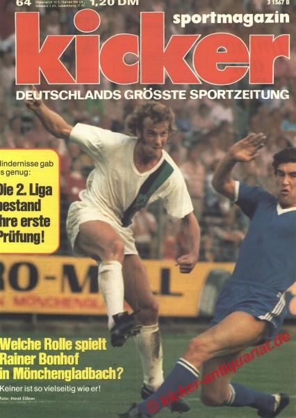 Kicker Sportmagazin Nr. 64, 5.8.1974 bis 11.8.1974
