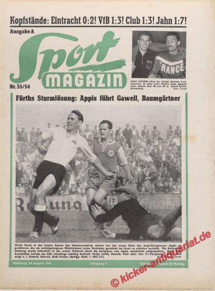 Sportmagazin Nr. 35A, 30.8.1954 bis 5.9.1954