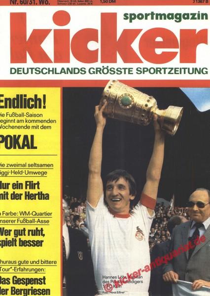 Kicker Sportmagazin Nr. 60, 25.7.1977 bis 31.7.1977