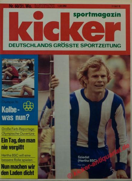 Kicker Sportmagazin Nr. 60, 26.7.1976 bis 1.8.1976