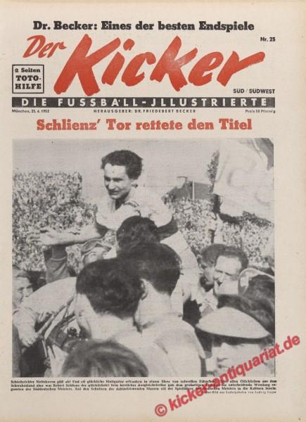 Kicker Nr. 25, 23.6.1952 bis 29.6.1952
