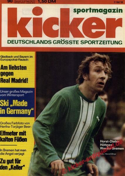 Kicker Sportmagazin Nr. 90, 10.11.1975 bis 16.11.1975