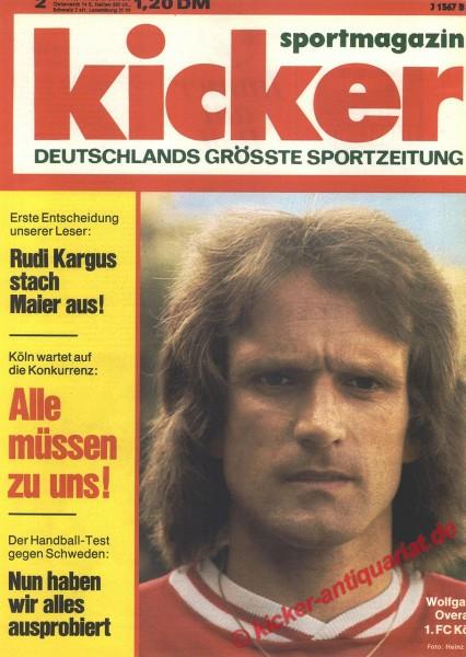 Kicker Sportmagazin Nr. 2, 6.1.1975 bis 12.1.1975