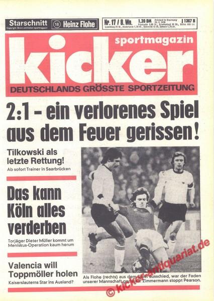 Kicker Sportmagazin Nr. 17, 23.2.1978 bis 1.3.1978