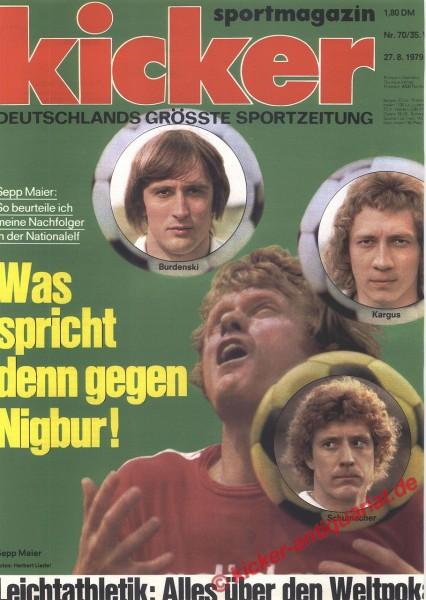 Kicker Sportmagazin Nr. 70, 27.8.1979 bis 2.9.1979
