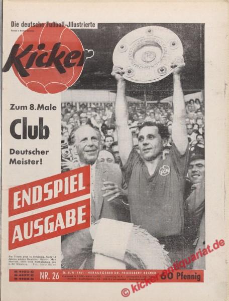 Kicker Nr. 26, 26.6.1961 bis 2.7.1961