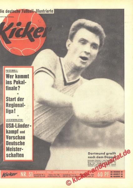 Kicker Nr. 31, 5.8.1963 bis 11.8.1963