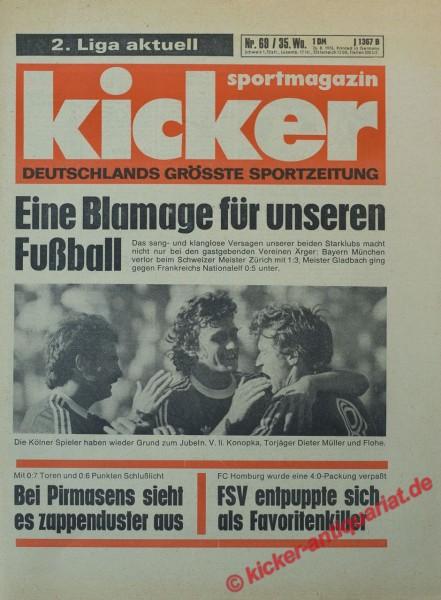 Kicker Sportmagazin Nr. 69, 26.8.1976 bis 1.9.1976