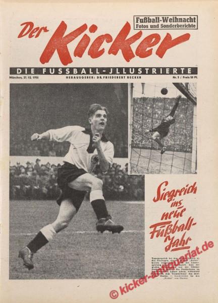 Kicker Nr. 3, 27.12.1951 bis 2.1.1952