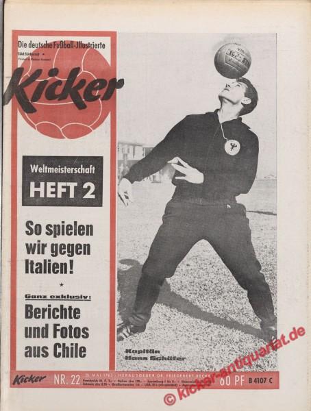 Kicker Nr. 22, 28.6.1962 bis 4.7.1962