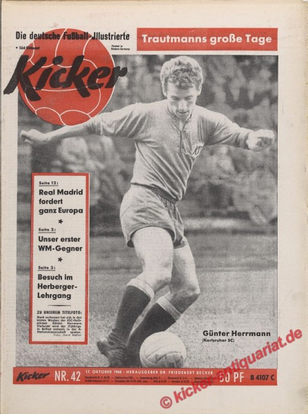 Kicker Nr. 42, 17.10.1960 bis 23.10.1960