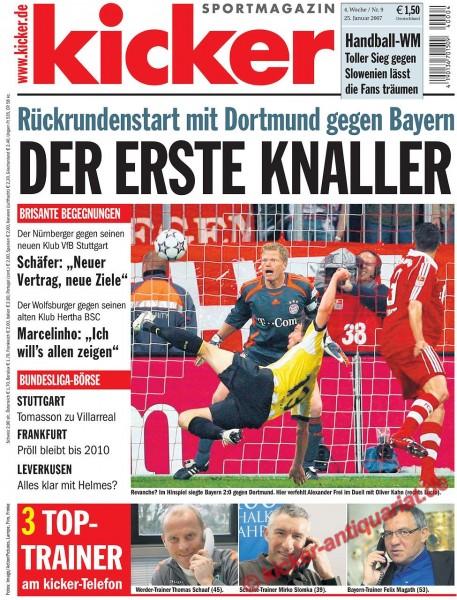 Kicker Sportmagazin Nr. 9, 25.1.2007 bis 31.1.2007