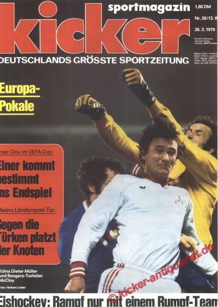 Kicker Sportmagazin Nr. 26, 26.3.1979 bis 1.4.1979
