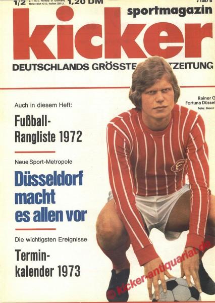 Kicker Sportmagazin Nr. 1, 2.1.1973 bis 8.1.1973
