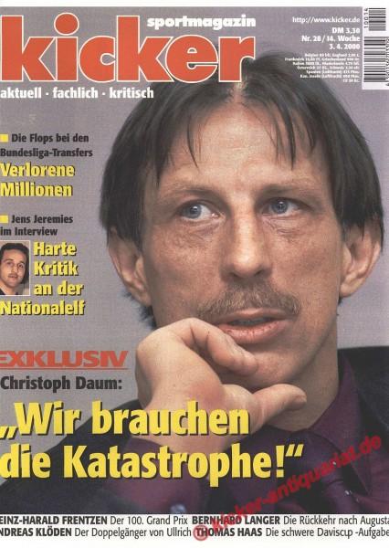 Kicker Sportmagazin Nr. 28, 3.4.2000 bis 9.4.2000