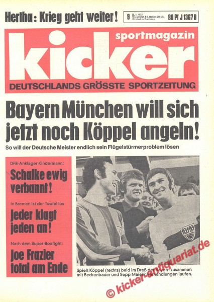 Kicker Sportmagazin Nr. 9, 25.1.1973 bis 31.1.1973